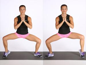 Le sumo squat, c'et l'un des exercices pour perdre du ventre